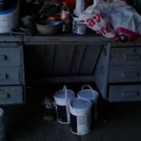 Old metal work desk