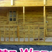 Wendy: louvre, knotty pine, log cabins