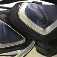 Golf Equipment - Nike & Taylormade Bag. Dunlop Clubs, Adams Hybrids