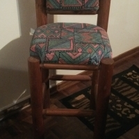 3 x wooden bar stools for sale