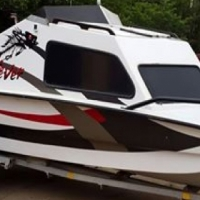 Lovely Cabin cruiser fishing boat for sale with a 135HP motor - electric start