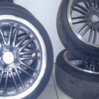 Rims with tyres narrows and wides