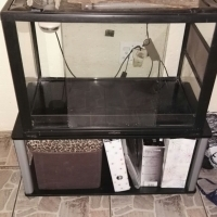 Reptile glass cage 2 sliding doors