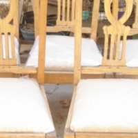 Oak chairs newly upholstered -