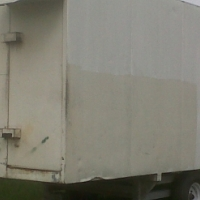 Container Trailer on galvanize chasse on wheels Good condition R15 900-00 Phone Nico 079 601 9813