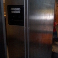water/ice dispenser silver fridge for sale