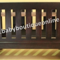 Brand New Burgundy Sleigh Cot (Convert Into Toddler Bed)