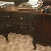 Antique imbua sideboard