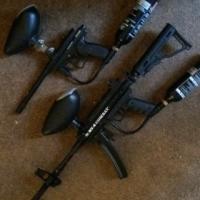 2 x paint ball guns for sale combo