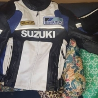 Shark helmet & suzuki jacket
