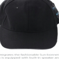 Bluetooth baseball cap  with built-in mic in baige