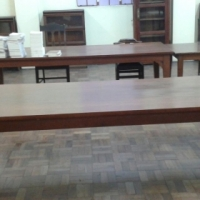 Mahogany tables (various sizes)