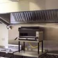 Kitchen canopy extraction system complete for commercial kitchens