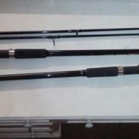 2*12 visstokke met 3 katrolle met 2 vis kaste met stand en n 4 man tend, used for sale  Free State North