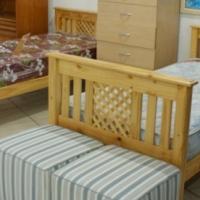 Pine beds - single (without mattress) - like new.