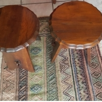 2 x Stinkwood milkmaid antique stools for R500