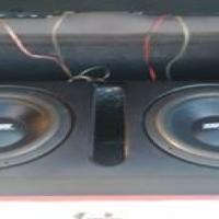 2 6000 WATT TARGA VIPER SUBS EN N 900 POWERBASS AMP MET BOK