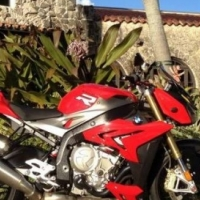 2014 BMW S1000R in high-gloss Racing Red.