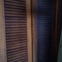 2nd double louver doors very cheap!