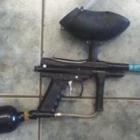 Paintball gun spyder sonix with co2 bottel
