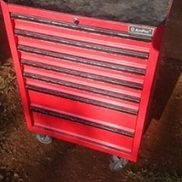 Ampro 7 drawer tool wagon including tools