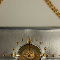 Versace Studded Lion Head Clutch Bag