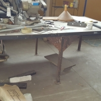 Steel work bench with steel top for sale at Bargain price