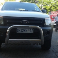 Protect your front bumper by fitting stainless steel nudge bar free fitment