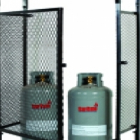 Gas bottle enclosures for domestic and commercial