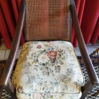 Imbuia ball & claw antique armchair