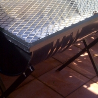 Braai stands - with grid ane removable legs plus Bomas large size R800 each