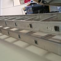Heavy duty aluminium extension ladder (6.6m) Extended 12.4