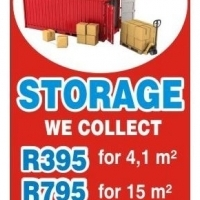 STORAGE AND SELF-STORAGE , we Collect for R 600 only ....