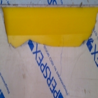 5 off yellow perspex peices - various sizes 3mm 5mm thick