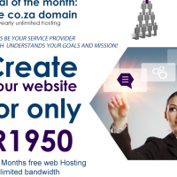 40% off on website and graphics design plus FREE CO.ZA DOMAIN AND UNLIMITED YEARLY HOSTING