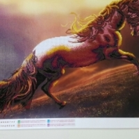 Horse Diamond embroided wall picture