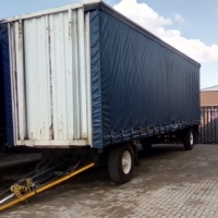 1992 Afrit Tautliner Drawbar Trailer