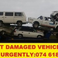 Accident damaged vehicles wanted