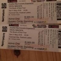 2 X Iron Maiden Golden Circle Tickets