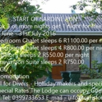 Carisford Lodge Specials from 1st June - 31st July 2016 Book for 3 nights or more  get 1 night FREE!