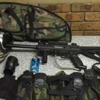 Tippmann A5 cyclone paintball marker with accessories
