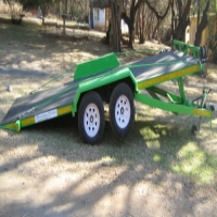 A.5. NEW SOLID FLOOR CAR TRAILER.