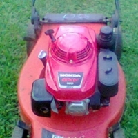 Domestic push type lawnmower in good condition.