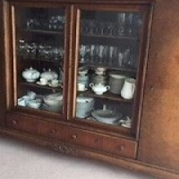 Unique 1940's Viennese Solid Wood Cupboard/Display Cabinet