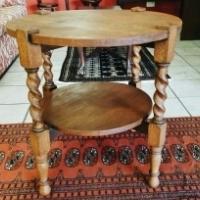 Oak Barley Twist Side Table