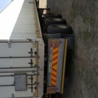 Afrit Tri-axle Aluminium Closed Body Trailer.