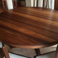 Blackwood Dining room Table, 8 Chairs, & Sideboard