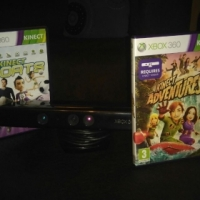 Kinect for xbox 360 plus 2 games for sale