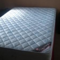 Double bed , mattress and base set