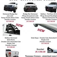 Ford Ranger 2012 -2016+ Nudge Bars, Rollbars, Side Steps & Towbars